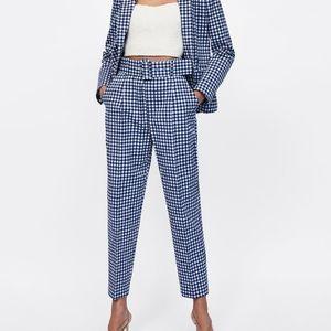 Zara Matching Co-ord Gingham Check Pants